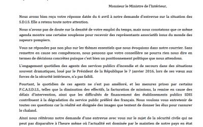 Courrier commun des organisations syndicales représentatives au ministre de l'Intérieur – 20 mai 2016