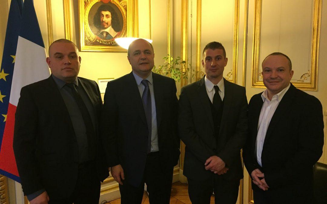 Le 3 janvier 2017, l'UNSA-SDIS de France a rencontré le Ministre de l'Intérieur B. LEROUX
