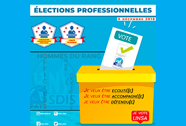 [Élections Professionnelles 2018] L'UNSA-SDIS33 vous informe